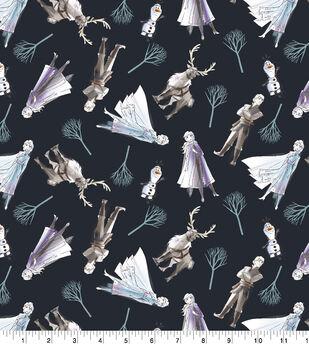 Disney Frozen 2 Cotton Fabric-Sketch Friends Digital