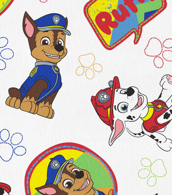 Disney Junior Paw Patrol Flannel Fabric -Ruff Pups