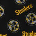 Pittsburgh Steelers Fleece Fabric -Camo Circle