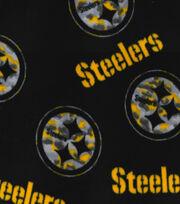 "Pittsburgh Steelers Fleece Fabric 58""-Camo Circle, , hi-res"