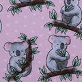 Novelty Cotton Fabric-Hugging Koalas