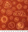 Fantastic Beasts Flannel Fabric -Secret Society