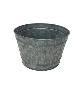 "8"" Ribbed Galvanized Bucket"