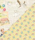 Beginnings Double-Sided Cardstock 12\u0022X12\u0022-Newspaper Vintage Icons
