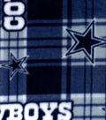 Dallas Cowboys Fleece Fabric -Plaid