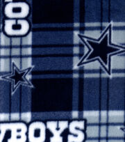 Dallas Cowboys Fleece Fabric -Plaid, , hi-res