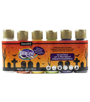 DecoArt Americana Acrylic Paint Value Pack 6/Pkg-Halloween