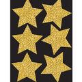 Die-Cut Magnets, 4\u0022 Gold Sparkle Stars, 6pcs/pk, Set of 6pks