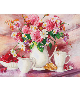 "Diamond Embroidery Facet Art Kit 31.5""X25""-Romantic Tea Time"