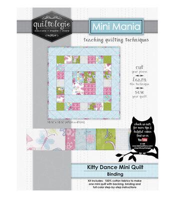 "Quiltologie Mini Mania Quilt Kit 18 1/2""-Kitty Dance"