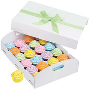White Folding Tray Cupcake Box, , hi-res