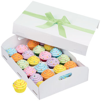White Folding Tray Cupcake Box