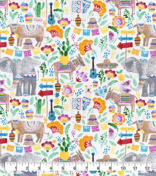 Snuggle Flannel Fabric-Festival Animals