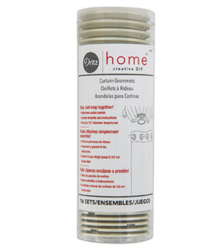 Dritz Home Creative DIY 16 pk 1-9/16'' Curtain Grommets-Champagne