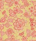Waverly Lightweight Decor Fabric 54\u0022-Floral Flair/Golden