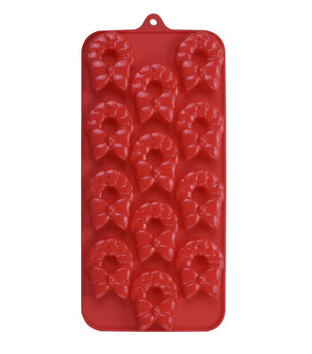 Christmas Holiday 12 Cavity 8.25''x4'' Silicone Candy Mold-Wreath