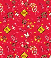 "University of Maryland Terrapins Cotton Fabric 43""-Bandana, , hi-res"