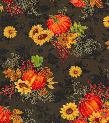 "Harvest Cotton Fabric 43""-Harvest Bounty Glitter"