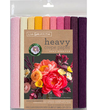 Lia Griffith 10 pk 9.8''x39.3'' Heavy Crepe Papers-English Garden