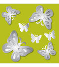 Wall Pops Butterflies 3D Peel and Stick Mirror Art, 7 Piece Set