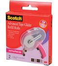 Scotch Advanced Tape Glider Acid-Free Refills 2/Pkg-.25\u0022X36yd Each, For Use In 085