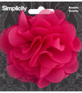 Rosette Flower Accessory Fuschia