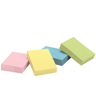 "3M Post-It 1-3/8""x1-7/8"" Recycled Notes-12PK/Pastel"