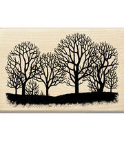 Inkadinkado Tree Silhouette Wood Mounted Stamp, , hi-res