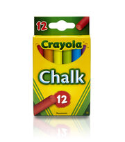 12ct Assorted Colored Chalk, , hi-res