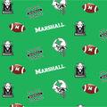 Marshall University Thundering Herd Cotton Fabric-Allover