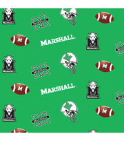Marshall University Thundering Herd Cotton Fabric-Allover, , hi-res