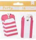 American Crafts DIY Party 16 pk 2.75\u0027\u0027x1.38\u0027\u0027 Pocket Tags-Pink & White