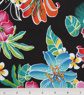 "Tropical Shirting Fabric 43""-Lily"