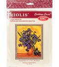 RIOLIS Combopu Cama Counted Cross Stitch Kit-Irises Van Gogh\u0027s Painting