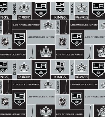 Los Angeles Kings Cotton Fabric 43''-Block