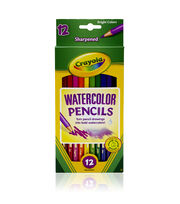 Crayola 12ct Watercolor Colored Pencils, , hi-res