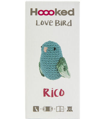 Hoooked Love Bird Yarn Kit with Eco Barbante Yarn-Turquoise