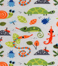 Snuggle Flannel Fabric -Multi Color Insects