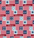 Patriotic Cotton Fabric 44\u0027\u0027-Liberty Patch