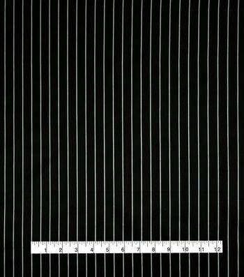 Anti-Static Lining Fabric -White Stripe on Black