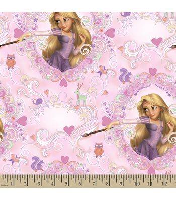 Disney Princess Print Fabric-Rapunzel