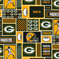 Green Bay Packers Cotton Fabric -Block