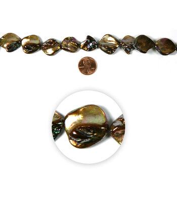 Blue Moon Strung Shell Beads,Diamond,Brown AB