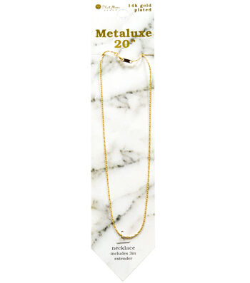"""Metaluxe Snake Necklace 20""""-Gold"""