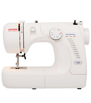 Janome Basic Easy-to-Use 128 Sewing Machine with Quarter Inch Seam Foot