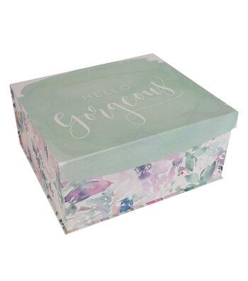Organizing Essentials Large Flip Top Box-Watercolor