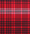 Holiday Showcase Christmas Cotton Fabric 43\u0027\u0027-Black, Red & White Plaids