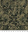 Covington Upholstery Fabric 55\u0027\u0027-Black & Tan Pearson