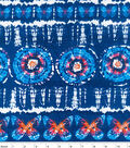 Snuggle Flannel Fabric -Navy Butterfly Tie Dye