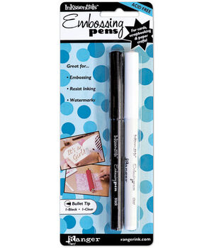 Inkssentials Embossing Pens-2PK/Black & Clear